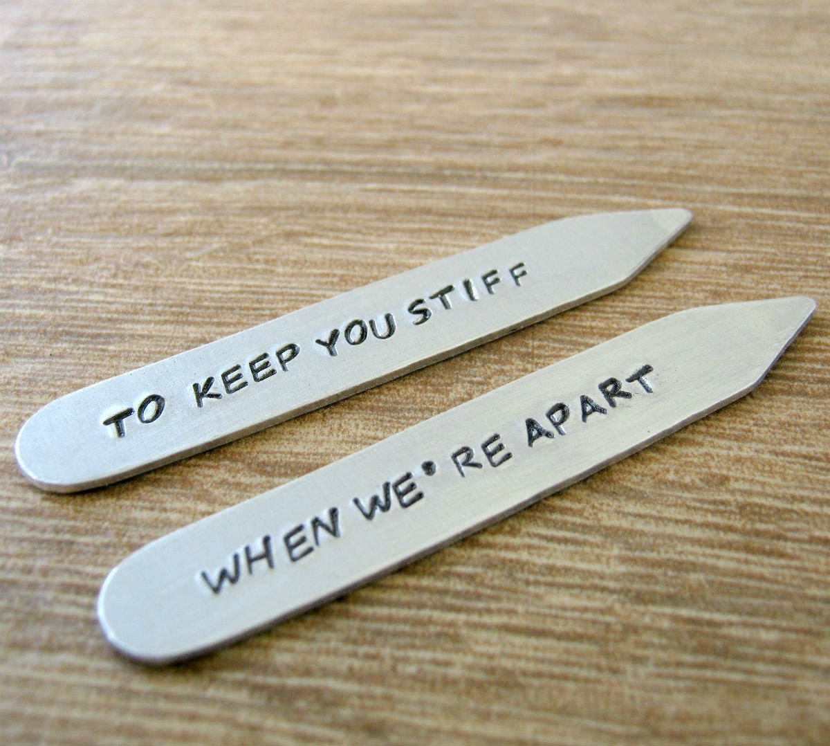 Personalized Collar Stays To Keep You Stiff When We\'re