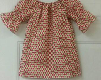 Christmas dress, Girls Peasant dress, Peasant dress, Girls boho dress, Girls boutique dress, Girls boutique clothing, boutique clothing