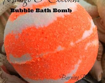 MANGO & COCONUT Bubble Bath Bomb,Bath Fizzie,Bubble Bar,Spa Bath Bomb