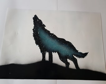 Wolf Painting Poster SPRAY PAINT ART