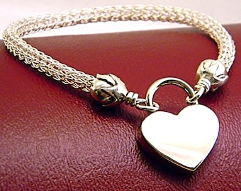 MADE TO ORDER The Roses Locking Trichinopoly Slave Anklet Sterling Silver