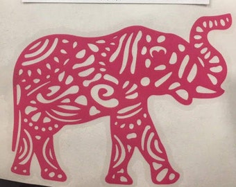 Aztec Elephant Decal