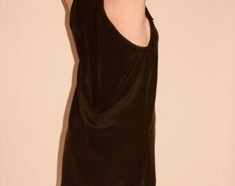 SALE! Silk halter dress with bow, little black dress