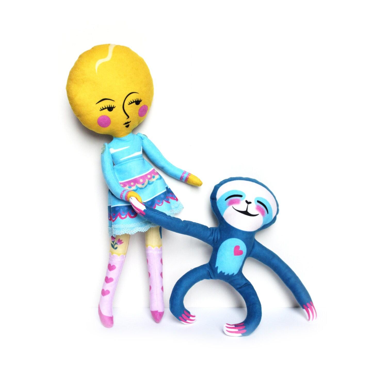 kit de bricolage poupée de fille de sun et suki le sloth
