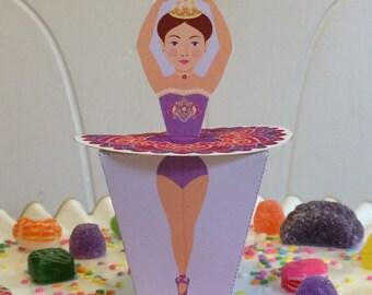 Ballerina Sugar Plum Fairy Favor Box Printable file