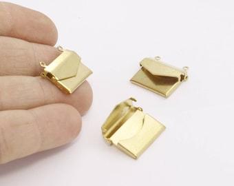 17x21mm Raw Brass Envelope Pendant , Envelope Charms , Raw Brass pendant, charms,AE189