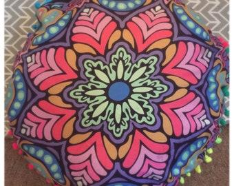 "Mandala/meditation pillows - 17"" - tassles - home decor"