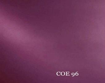 8x8 Spectrum COE 96 Light Purple (Med. Rose) Transparent Fusible Glass 3mm