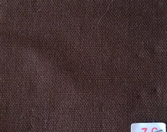 Cotton canvas chocolate No.36, perfect for clothing and linens