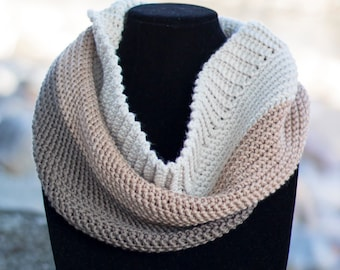 Pattern: Carlyle Color Block Cowl Crochet Pattern PDF (Cowl Crochet Pattern by Little Monkeys Crochet) Cowl Crochet Pattern Easy Cowl