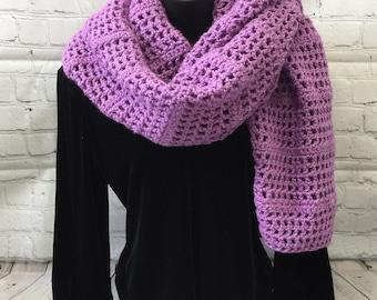 Women's Crocheted Plum Shawl/Wrap