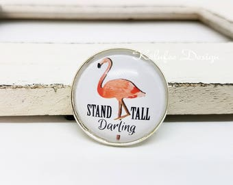 Flamingo brooch lapel pin/flamingo brooch/PIN/Pinback/gift for you/jewelry brooch