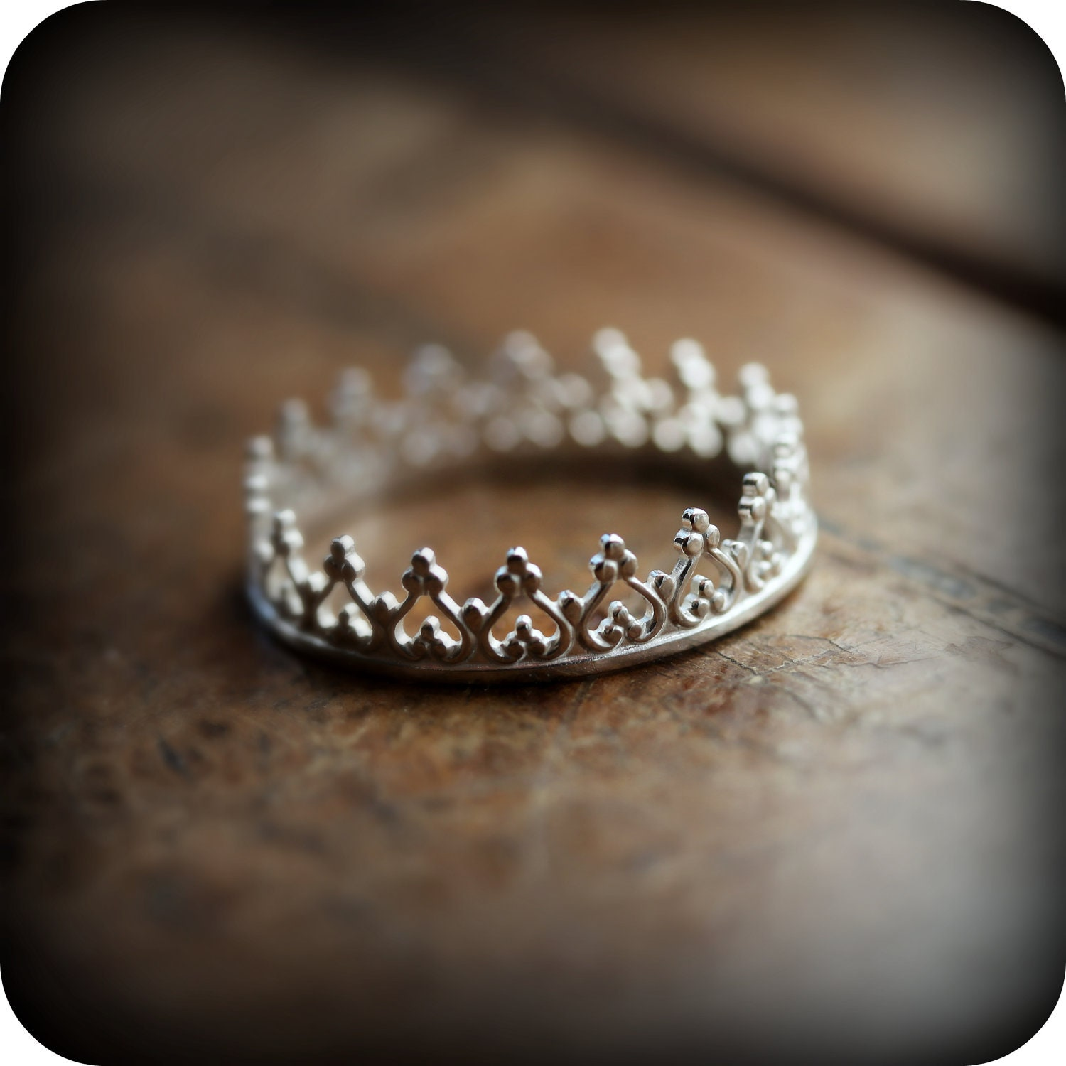 Crown ring 01 sterling silver ring