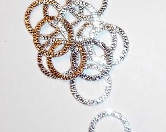 12 Silver Bling Rings