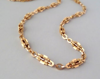 Antique 14k Gold Necklace. Victorian.