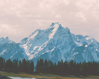 "landscape, tetons, grand tetons, grand teton national park, jackson, wyoming, jackson hole, mountains, large wall art - ""Wandering Heart"""