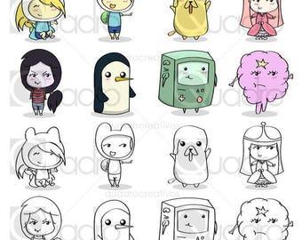 Adventure Time Clip Art  - (16 images clipart)