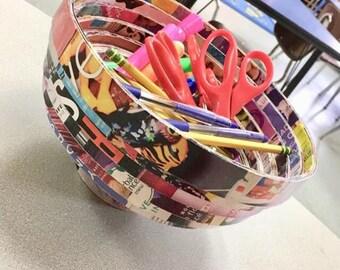 Magazine bowl or Vase craft