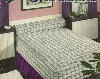 Crochet Patterns, Coats and Clark Book 301, 1953, Thread Crochet, Bedspreads Tablecloths