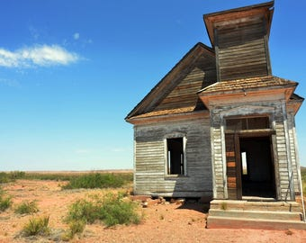 DESERTED SCHOOL HOUSE -2nd Version- In the town of Taiban, in Eastern New Mexico.