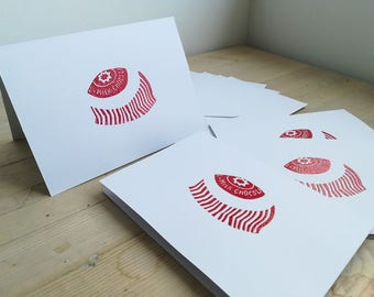 Tunnock's Teacakes (set of four notecards)
