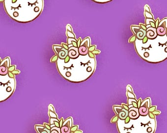 Unicorn Macaron Hard Enamel Pin-Brooch-Lapel Pin-Hat Pin