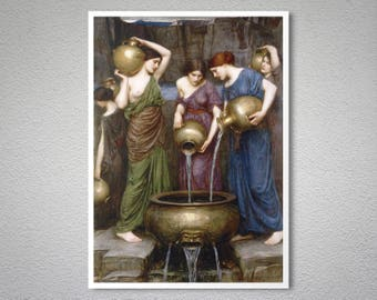 Danaides by John William Waterhouse - Poster Paper, Sticker or Canvas Print / Gift Idea