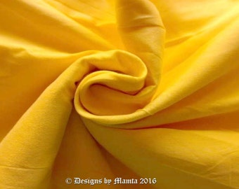 Lemon Yellow Art Silk Dupioni Fabric, Wholesale Indian Fabric By The Yard, Art Silk Fabric, Bridal Wedding Silk Fabric, Yellow Silk Fabric