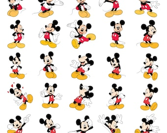 Mickey Mouse Svg/Eps/Png/Jpg/Cliparts,Printable, Silhouette and Cricut File !!!