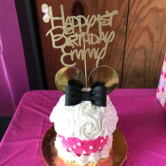Minnie Mouse cake topper Birthday cake topper minnie mouse
