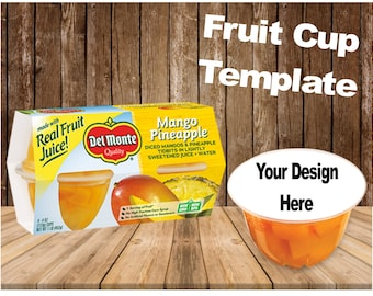 Fruit cup Template, printable, download, customize, personalized, label