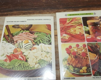 Betty Crocker Recipe cards and divider cards, Unopened packs