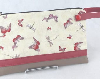 checkbook, coin purse butterflies and dragonflies