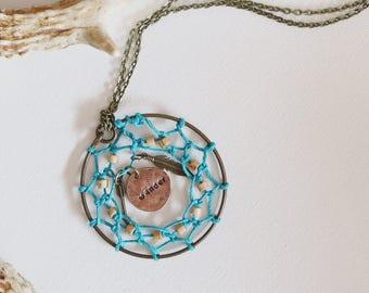 Name Necklace , Macrame Necklace, Necklace, Boho jewelry , Valentine's day gift for women, Statment necklace, Wanderlust