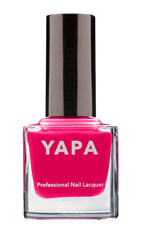 Dark Pink Liz. YAPA Nail Lacquer Non-Toxic