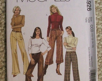 McCalls M4926 Cuffed pants sewing pattern
