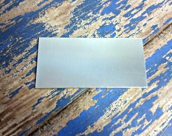 Aluminum 1 inch x 2 inch Rectangle Stamping Blanks - Aluminum Blanks - 18 Gauge