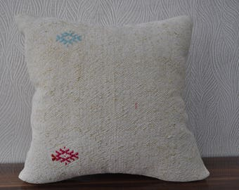 vintage kilim pillow cushion cover anatolian kilim pillow decorative kilim pillow 18x18 turkish kilim bedrrom pillow sofa pillow No 665