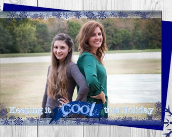 Keeping it Cool this Holiday, photo card layout