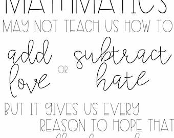Mathematics Quote Printable