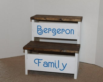 Farmhouse Step stool with personalization