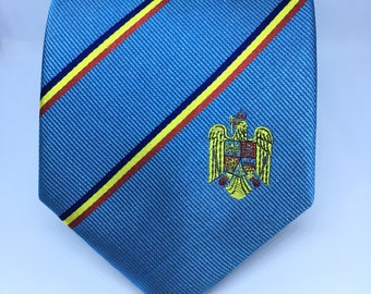 Romania Tie - Inspired by the flag of Romania. LDS Missionary. Husband Gift, Missionary Gift. Fathers Day Gift.