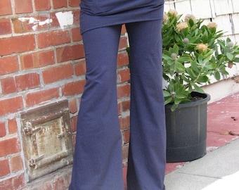 Women yoga Pants, yoga pants with skirt and pockets, organic clothing, hemp clothing, Herban Devi