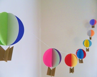 Oh the places youll go Birthday Decorations Hot air
