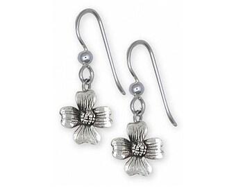 Dogwood Jewelry Sterling Silver Dogwood Earrings Handmade Flower Jewelry DGW5-FW