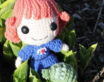 PATTERN: Nausicaa & Baby Ohmu Studio Ghibli Crochet Amigurumi Dolls