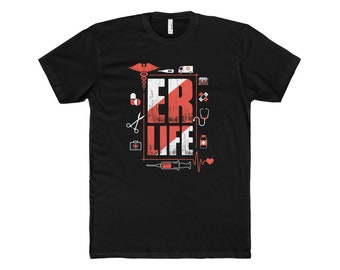 ER LIFE™ Tools Of The Trade Men's Crew Neck|  Er Nurse Shirt|  Emergency|  Emergency Department | ER Week | Emergency nurse | er nurse shirt