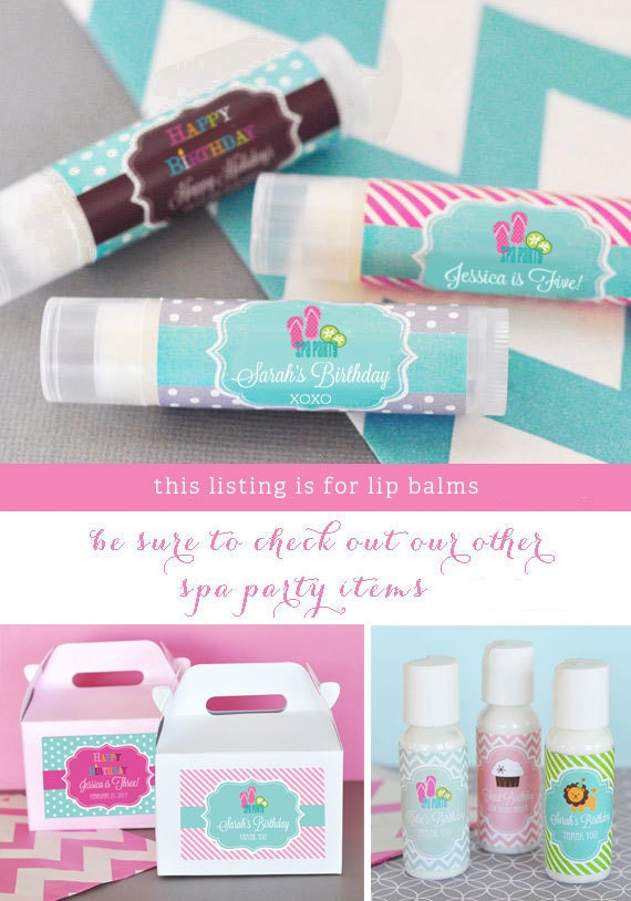 Kids Spa Party Favors Girls Spa Party Favors Ideas Spa