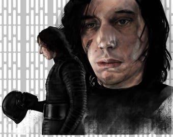 Kylo Ren The Last Jedi digital painting