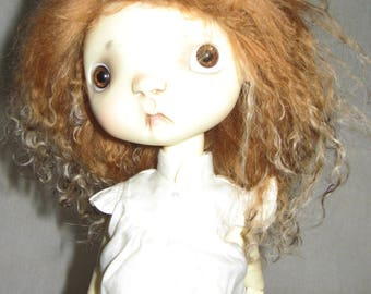 Hand made wig for Sprockets & similar size dolls - Tan with blonde tips.